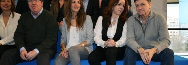 Los candidatos del PP de Segovia en la presentación del PPCyL en Burgos