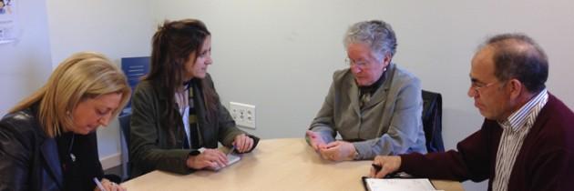 Raquel Fernández se interesa por las iniciativas de la Plataforma del Voluntariado