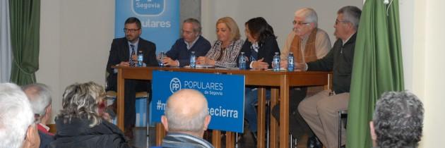 Los candidatos del PP celebran una jornada de trabajo con alcaldes y concejales de la zona de Boceguillas