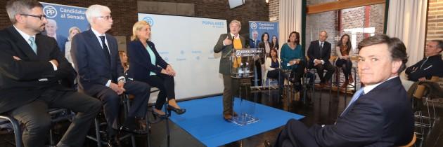 José Manuel Barreiro destaca la importancia de la próxima cita electoral en la presentación de los candidatos del PP de Segovia