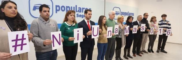 Los candidatos del PP muestran su repulsa hacia la violencia contra la mujer