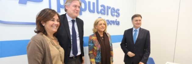Antonio López-Istúriz apoya las candidaturas del PP de Segovia al Congreso y al Senado