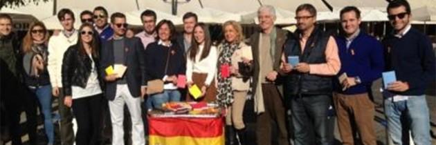 Los candidatos del PP, por la unidad de España en el Día de la Constitución