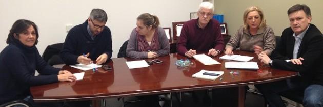Francisco Vázquez, presidente del PP de Segovia, mantiene un encuentro de coordinación provincial con los parlamentarios de Segovia