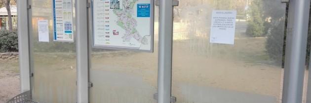 El GMP considera que habría que cuidar la limpieza y el mantenimiento de las paradas de autobús