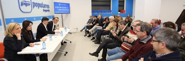El PP de Segovia en su Comité Ejecutivo Provincial, aprueba un manifiesto en defensa de las Diputaciones
