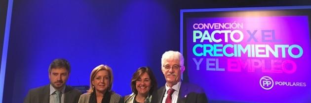 Los parlamentarios nacionales segovianos participan en la «Convención sobre el pacto por el crecimiento y el empleo» , del PP