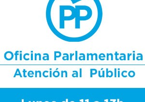 Los parlamentarios del PP atienden a los ciudadanos todos los lunes por la mañana