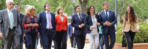 Cospedal muestra su apoyo a las candidaturas del PP de Segovia al Congreso y al Senado