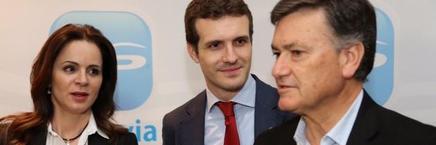 Francisco Vázquez defiende la cohesión territorial con Pablo Casado y Silvia Clemente, en la campaña «Ahora más cerca»