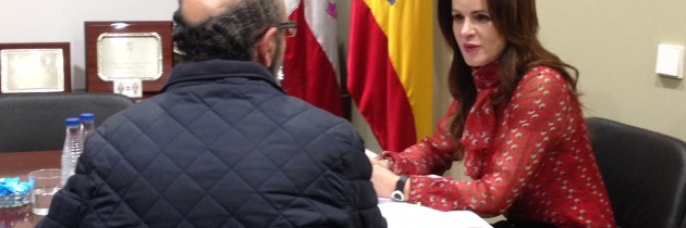 Silvia Clemente en la Oficina Parlamentaria del PP de Segovia