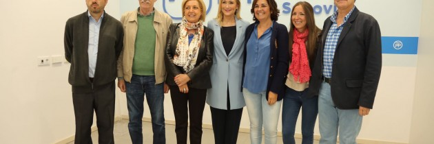 Cristina Cifuentes apoya a los candidatos del Partido Popular de Segovia