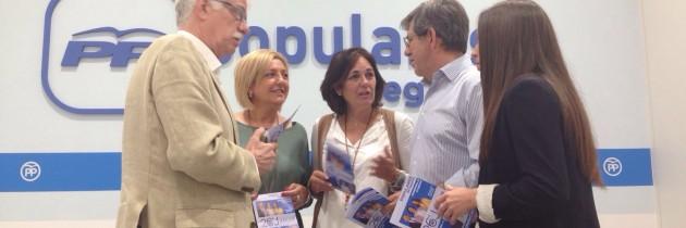 Las candidatas del PP piden a los segovianos que apuesten por la estabilidad que aporta un Gobierno del Partido Popular