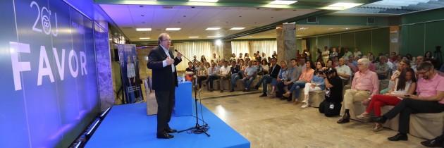 Juan Vicente Herrera clausura el acto de formación de interventores y apoderados