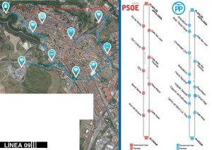 Linea 9 - Propuesta PP y PSOE