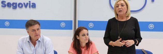 Andrea Levy participa en un acto del Partido Popular de Segovia