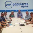 La presidenta del PP de Segovia, Paloma Sanz, inicia las reuniones de trabajo con las vicesecretarías provinciales