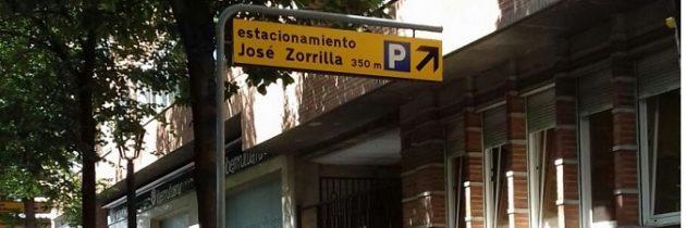 El PP en el Ayuntamiento solicita la retirada de las señales que indican el aparcamiento de José Zorrilla hasta que vuelva a estar operativo