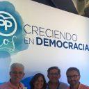 Los parlamentarios nacionales del Partido Popular de Segovia participan en la 22 Interparlamentaria del PP