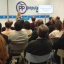 El secretario general autonómico, Francisco Vázquez, asiste al primer Comité Ejecutivo de 2018 del Partido Popular de Segovia