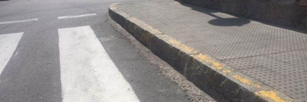 El PP municipal pide la mejora real de la accesibilidad en los pasos de peatones