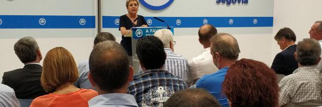 """Paloma Sanz alienta a los populares segovianos para que participen de forma intensa en las próximas actividades del PP, enfocadas a """"ganar las elecciones"""""""