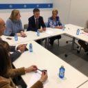 Paloma Sanz, Francisco Vázquez e Isabel Blanco presiden un encuentro con representantes de todas las comisiones de estudio
