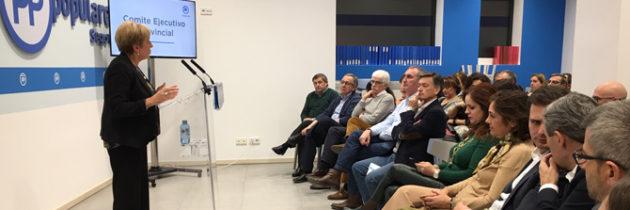 Paloma Sanz se muestra convencida de que el Partido Popular de Segovia contará con los mejores candidatos en cada municipio de la provincia