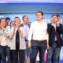 Alfonso Fernández Mañueco apoya los proyectos de Francisco Vázquez y de  Pablo Pérez en el mitin central de la campaña del Partido Popular de Segovia