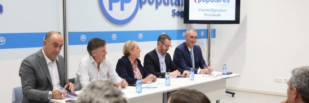Francisco Vázquez y Javier Maroto participan en el Comité Ejecutivo del PP de Segovia