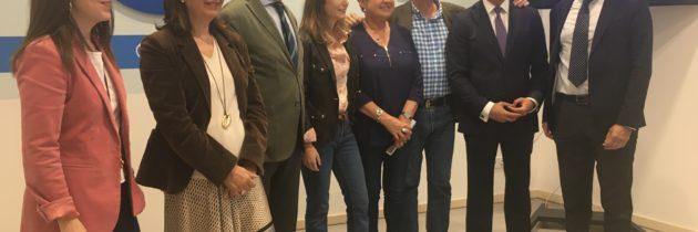 Andrea Levy arropa las candidaturas encabezadas por Paloma Sanz y Jesús Postigo
