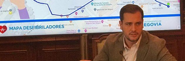 El PP en el Ayuntamiento pedirá la elaboración de una mapa actualizado de desfibriladores en la ciudad de Segovia para ponerlo a disposición de los ciudadanos