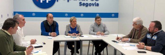 Paloma Sanz se reúne con los portavoces y alcaldes del PP en la provincia