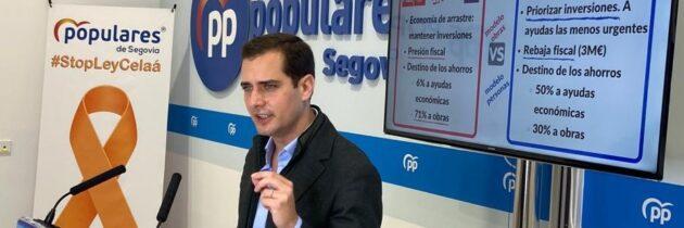 Pablo Pérez propone un modelo de gestión de la crisis centrado en ayudas directas frente al modelo de obras de las izquierdas
