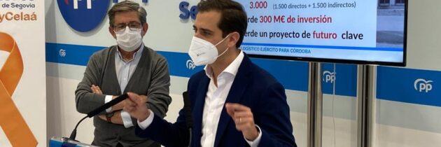 """El PP dice """"basta ya"""" a la dejadez e incompetencia del PSOE que no ha hecho nada para atraer el Centro Logístico del Ejército de Tierra."""