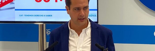 """Pablo Pérez: """"El CAT no sólo son millones de euros, son mentiras, engaños y falsas expectativas por parte del equipo de gobierno socialista hacia los segovianos"""""""